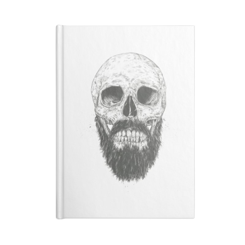 The beard is not dead Accessories Blank Journal Notebook by Balazs Solti