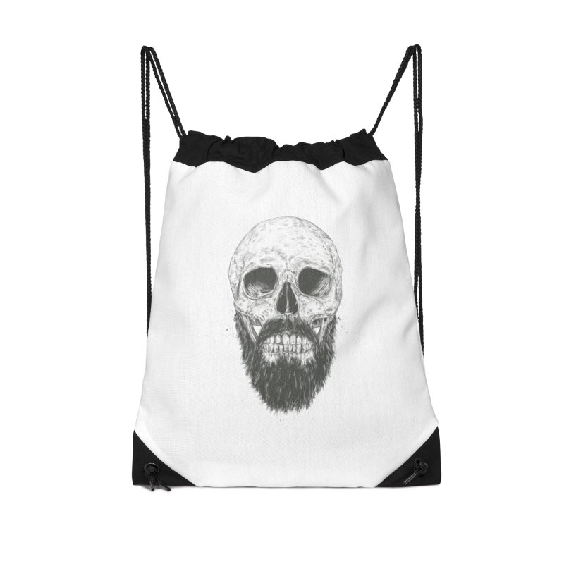 The beard is not dead Accessories Drawstring Bag Bag by Balazs Solti