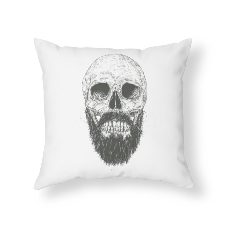 The beard is not dead Home Throw Pillow by Balazs Solti