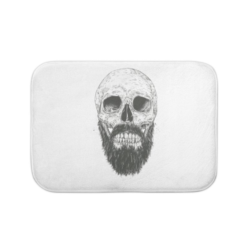 The beard is not dead Home Bath Mat by Balazs Solti