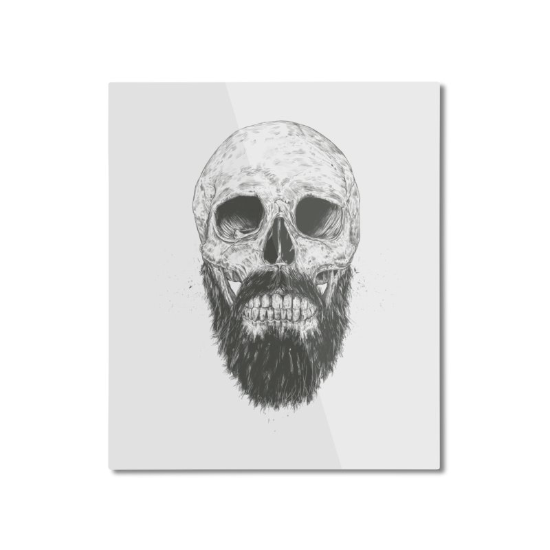 The beard is not dead Home Mounted Aluminum Print by Balazs Solti
