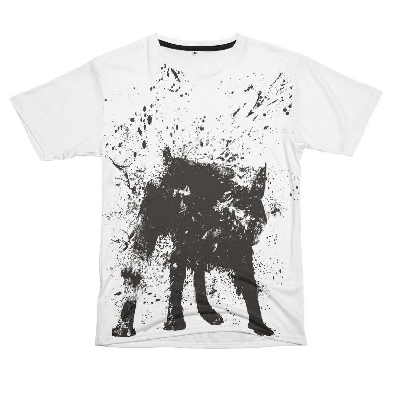 Wet dog Men's T-Shirt Cut & Sew by Balazs Solti