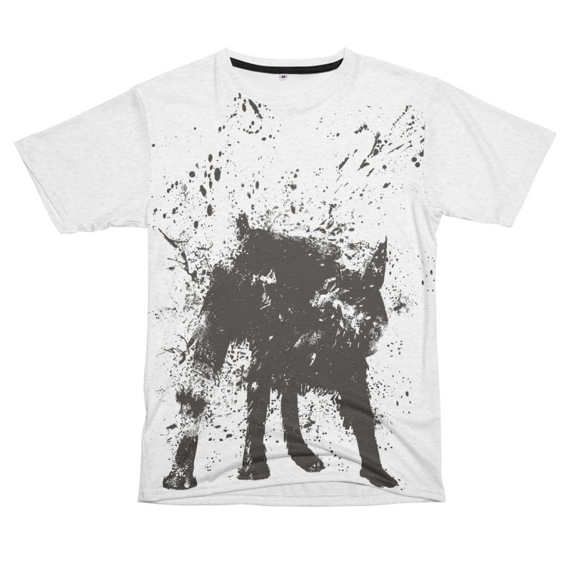 Wet dog Women's Unisex French Terry T-Shirt Cut & Sew by Balazs Solti