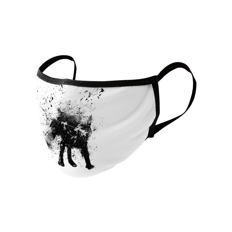 Wet dog Accessories Face Mask by Balazs Solti