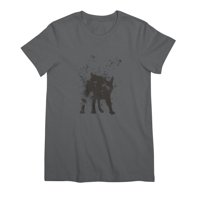 Wet dog Women's T-Shirt by Balazs Solti