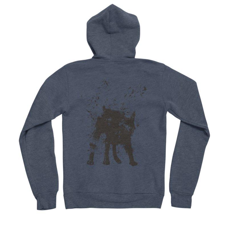Wet dog Men's Sponge Fleece Zip-Up Hoody by Balazs Solti