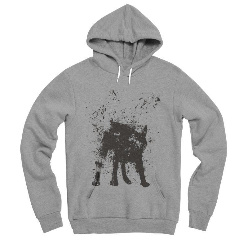 Wet dog Women's Sponge Fleece Pullover Hoody by Balazs Solti