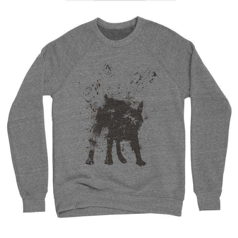Wet dog Men's Sponge Fleece Sweatshirt by Balazs Solti