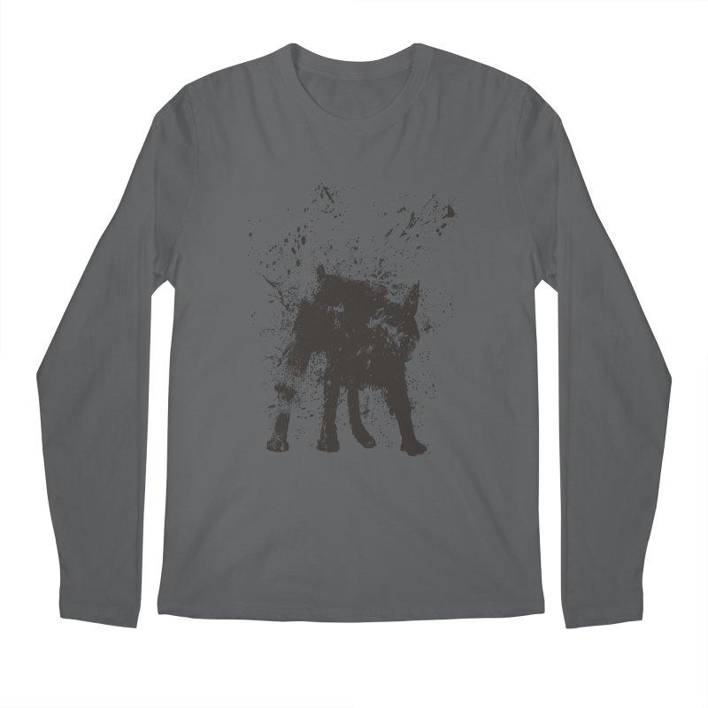 Wet dog Men's Longsleeve T-Shirt by Balazs Solti