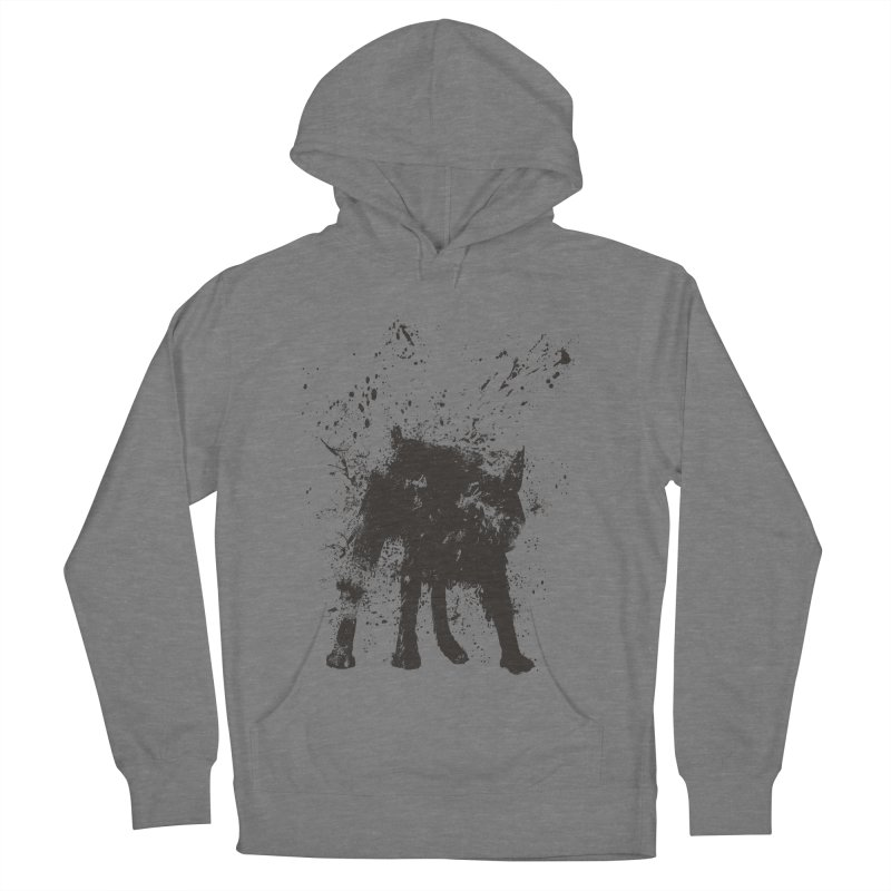 Wet dog Women's French Terry Pullover Hoody by Balazs Solti