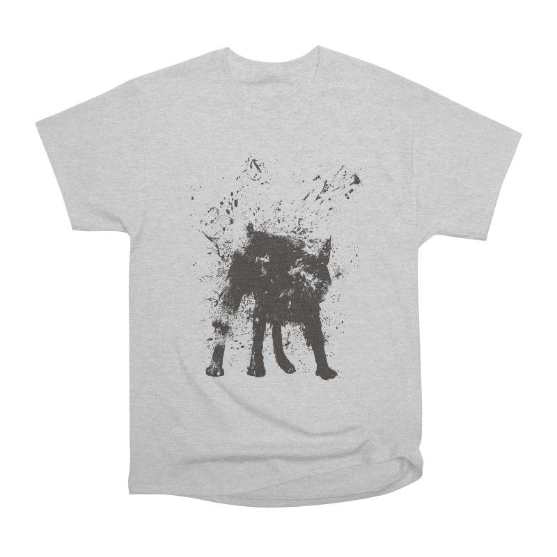 Wet dog Women's Heavyweight Unisex T-Shirt by Balazs Solti
