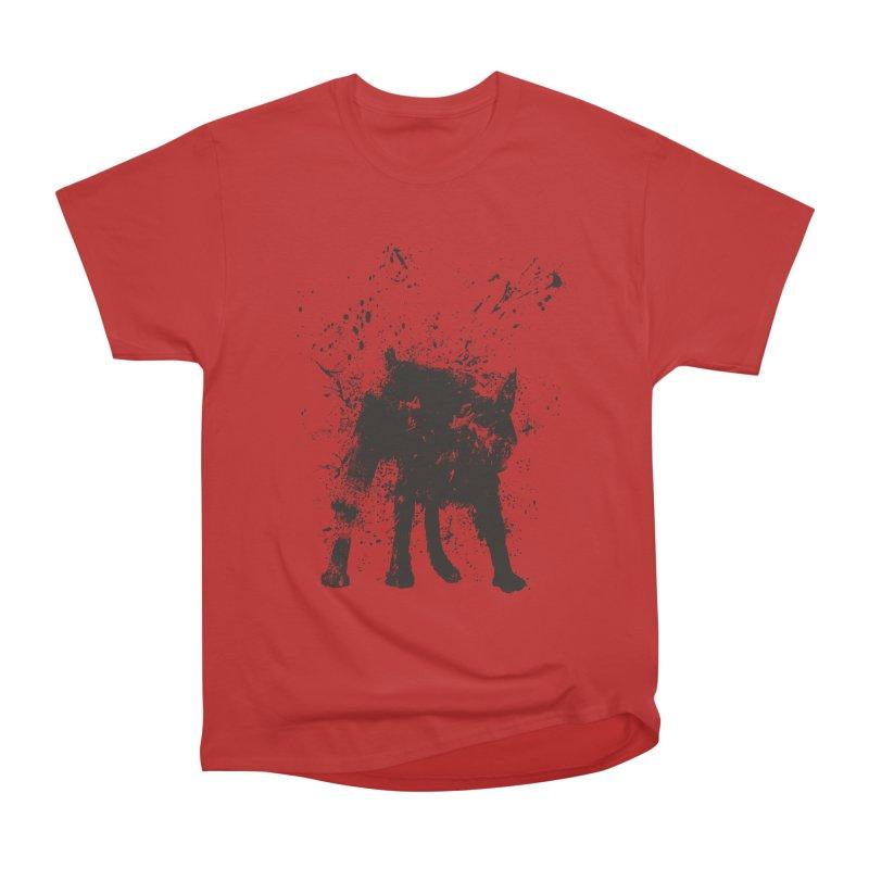 Wet dog Men's Heavyweight T-Shirt by Balazs Solti