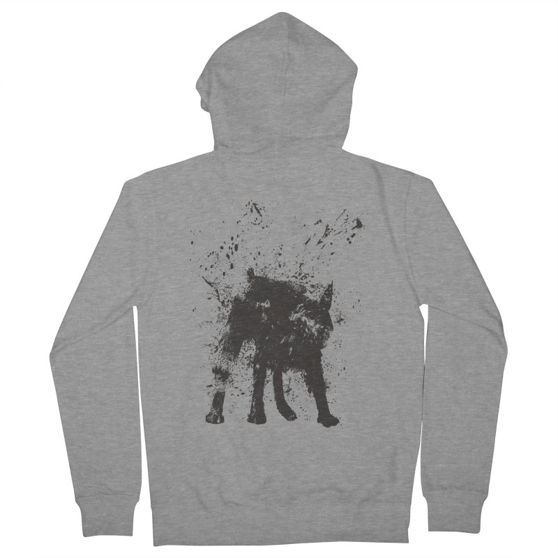 Wet dog Women's French Terry Zip-Up Hoody by Balazs Solti