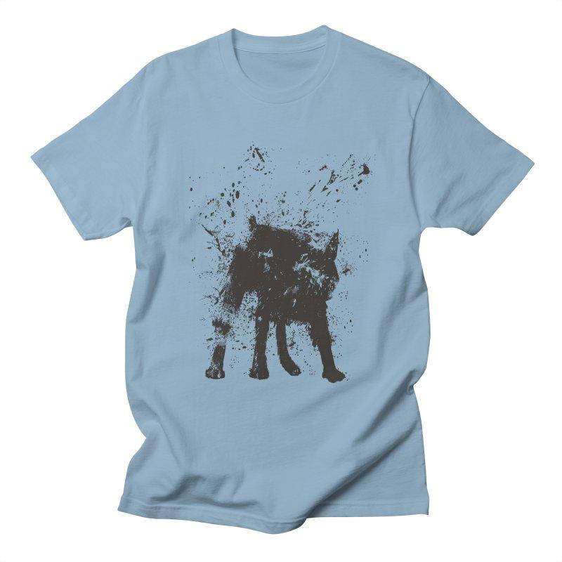 Wet dog Men's Regular T-Shirt by Balazs Solti