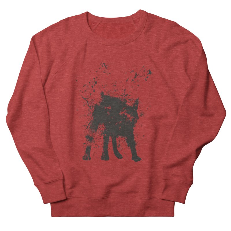 Wet dog Men's French Terry Sweatshirt by Balazs Solti