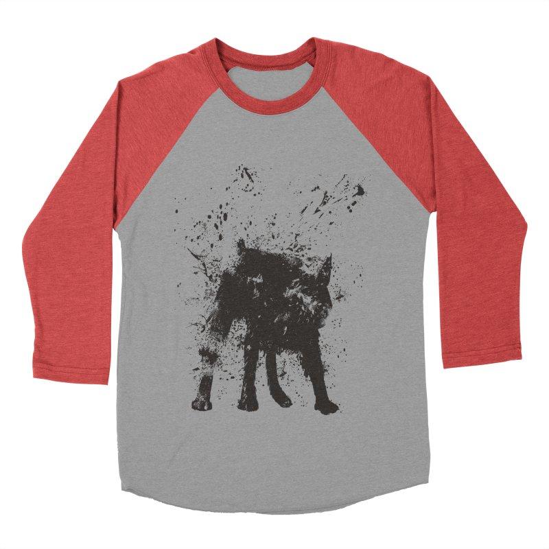 Wet dog Women's Baseball Triblend Longsleeve T-Shirt by Balazs Solti