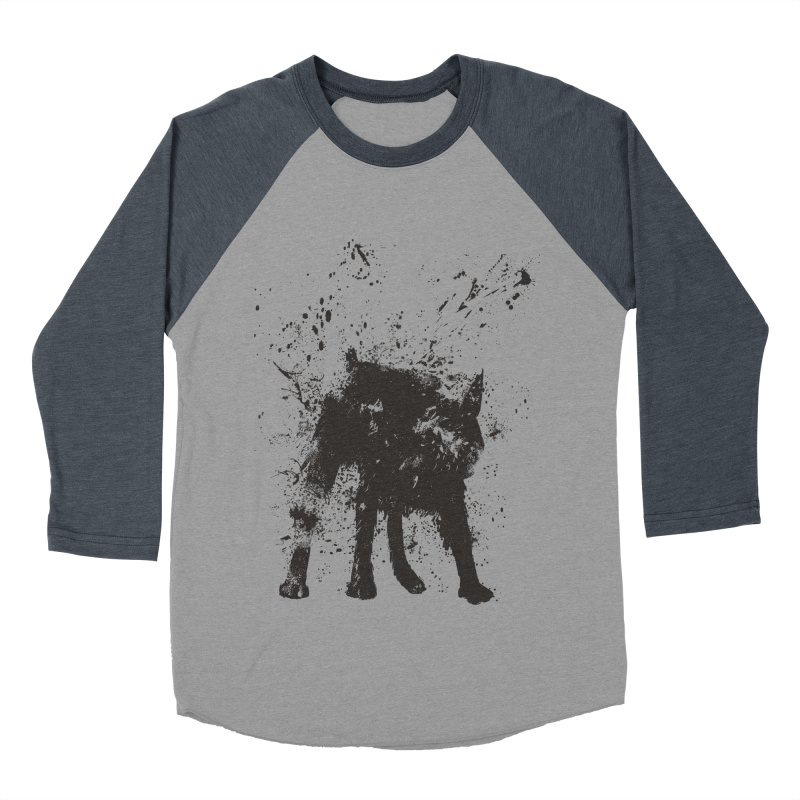 Wet dog Men's Baseball Triblend Longsleeve T-Shirt by Balazs Solti