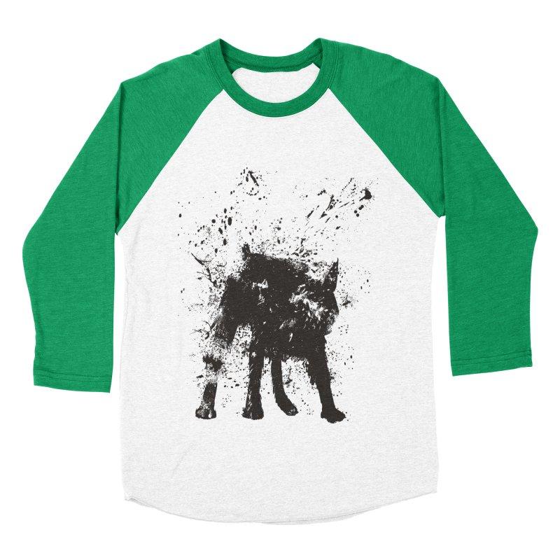 Wet dog Men's Baseball Triblend Longsleeve T-Shirt by Balazs Solti