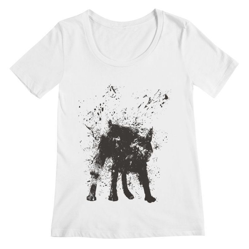 Wet dog Women's Regular Scoop Neck by Balazs Solti