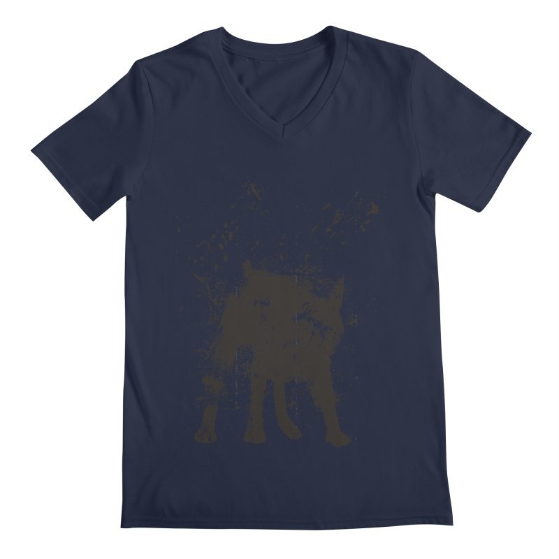 Wet dog Men's Regular V-Neck by Balazs Solti