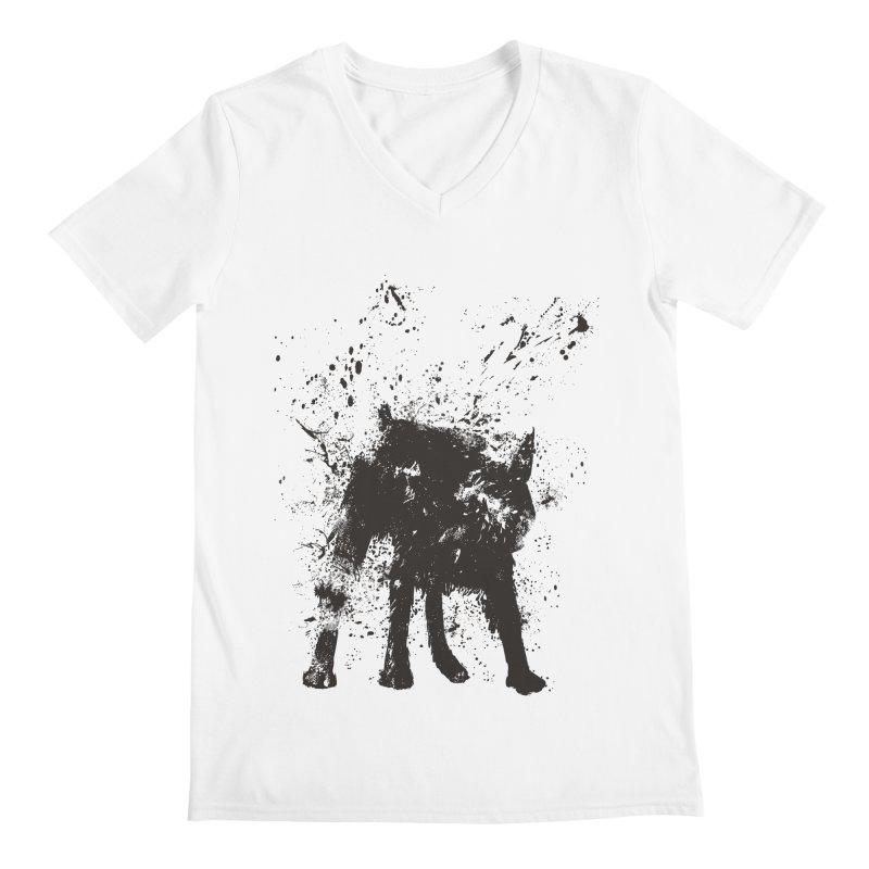 Wet dog Men's V-Neck by Balazs Solti