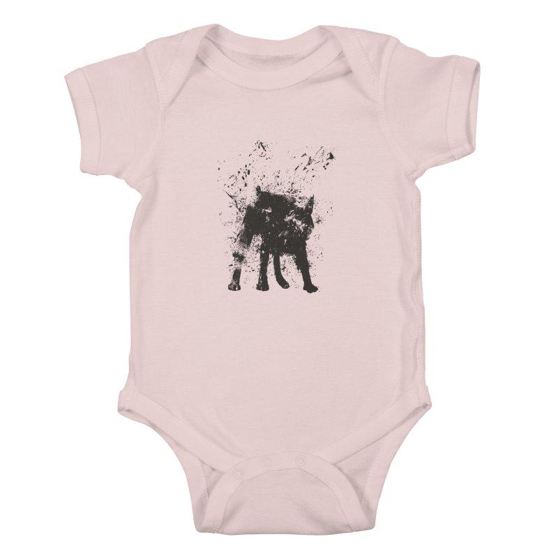 Wet dog Kids Baby Bodysuit by Balazs Solti