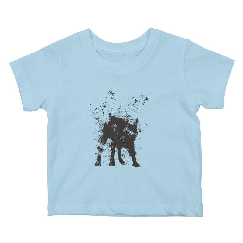 Wet dog Kids Baby T-Shirt by Balazs Solti