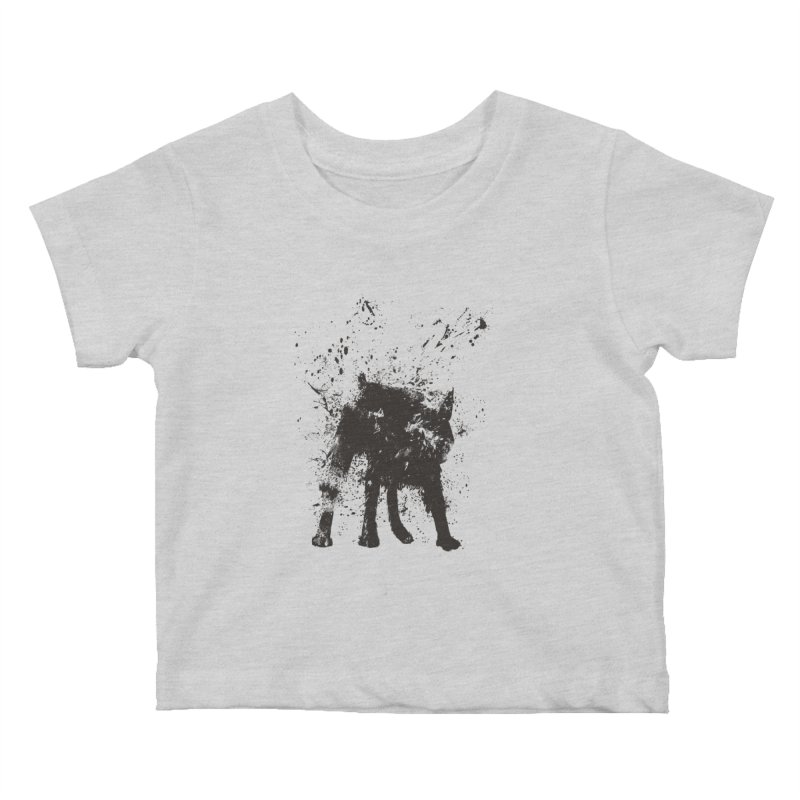 Wet dog Kids Baby T-Shirt by Balazs Solti