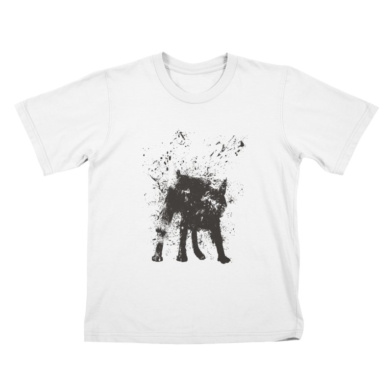 Wet dog Kids T-Shirt by Balazs Solti
