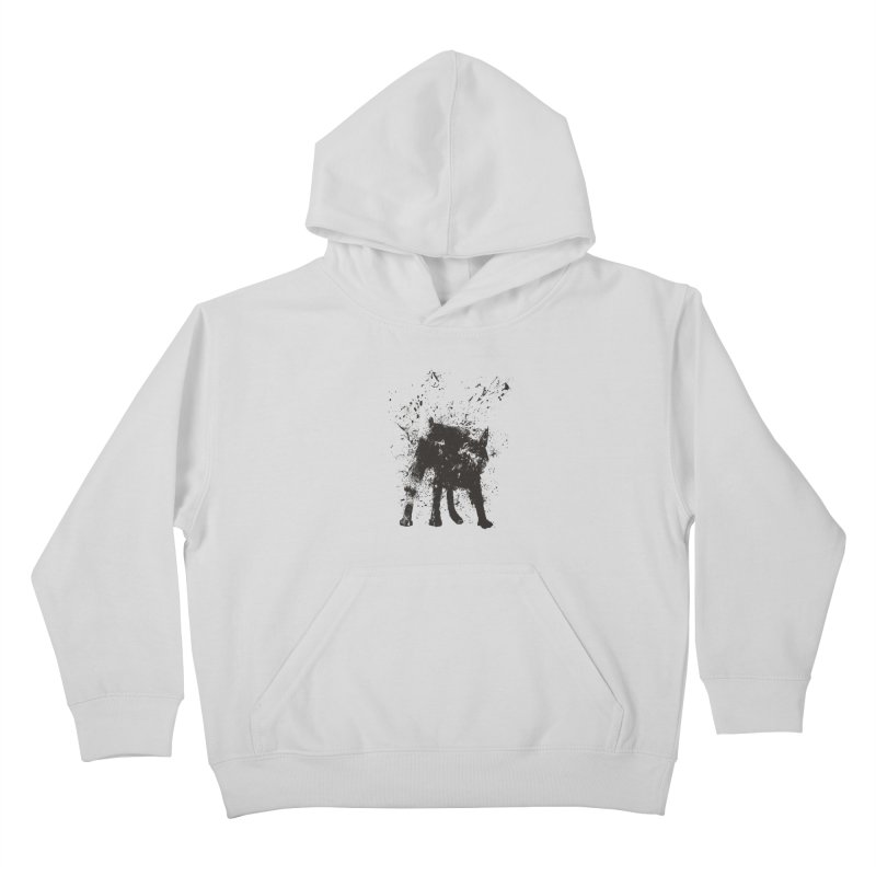 Wet dog Kids Pullover Hoody by Balazs Solti