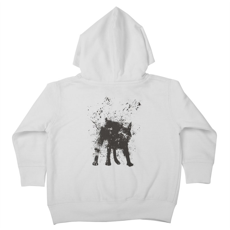 Wet dog Kids Toddler Zip-Up Hoody by Balazs Solti