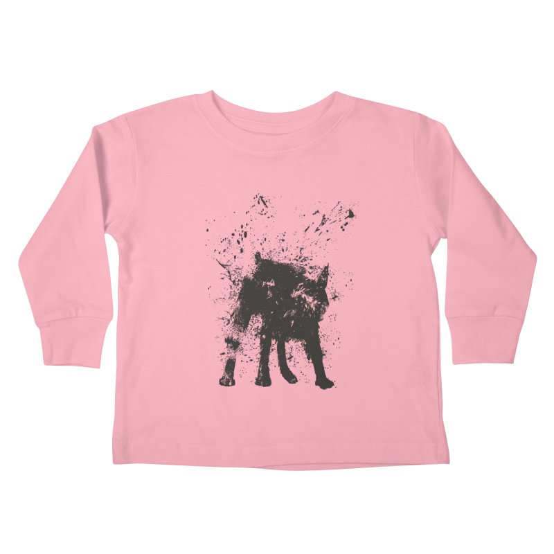 Wet dog Kids Toddler Longsleeve T-Shirt by Balazs Solti