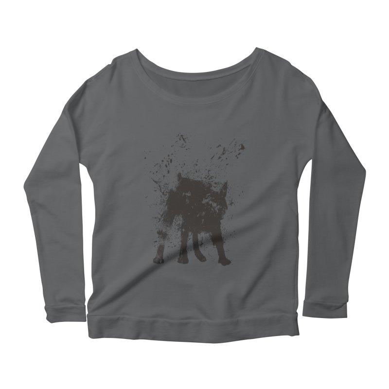 Wet dog Women's Scoop Neck Longsleeve T-Shirt by Balazs Solti