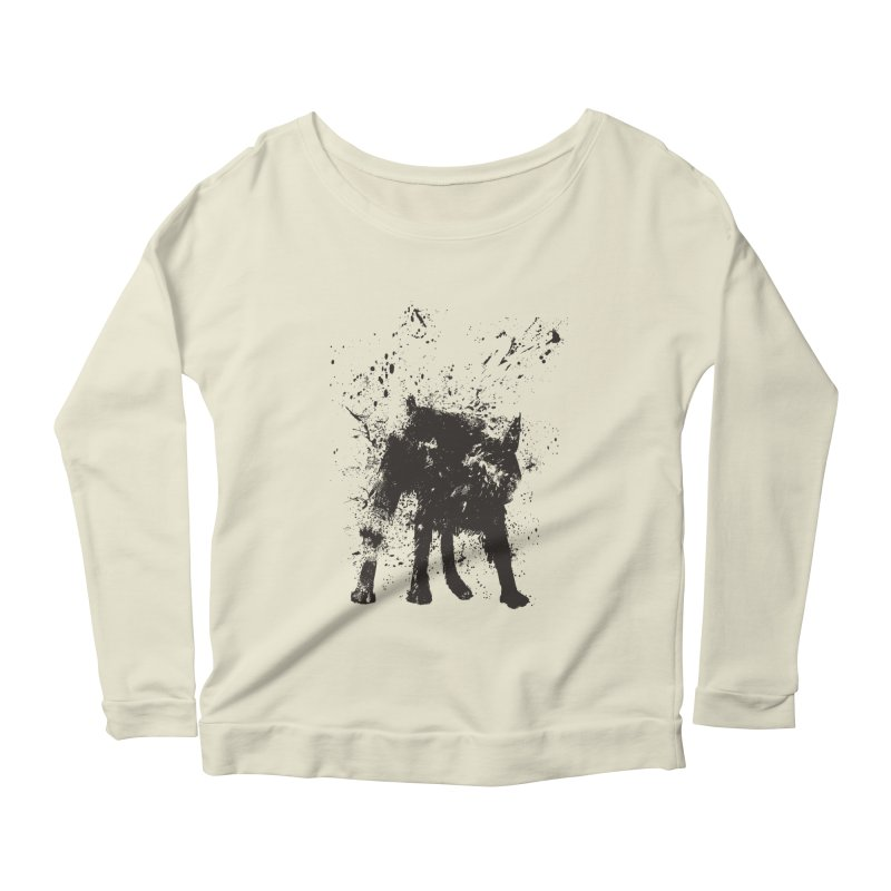 Wet dog Women's Scoop Neck Longsleeve T-Shirt by Balazs Solti