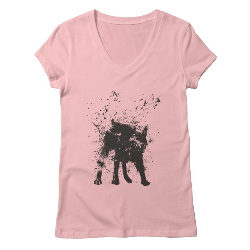 Wet dog Women's Regular V-Neck by Balazs Solti