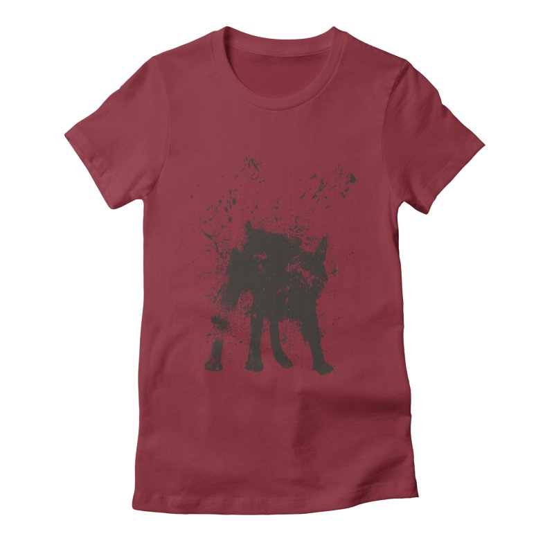 Wet dog Women's Fitted T-Shirt by Balazs Solti