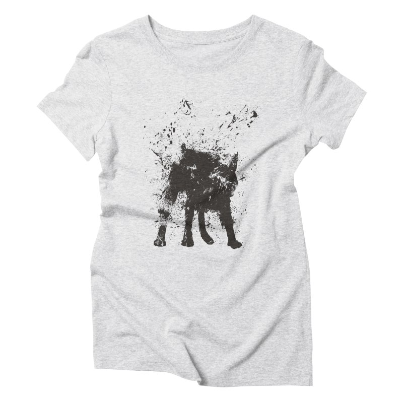 Wet dog Women's T-Shirt by Balazs Solti