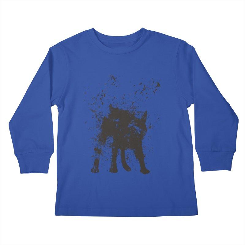 Wet dog Kids Longsleeve T-Shirt by Balazs Solti