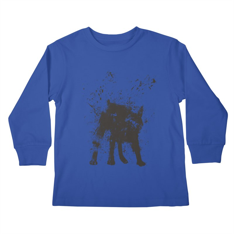 Wet dog Kids Longsleeve T-Shirt by Balazs Solti