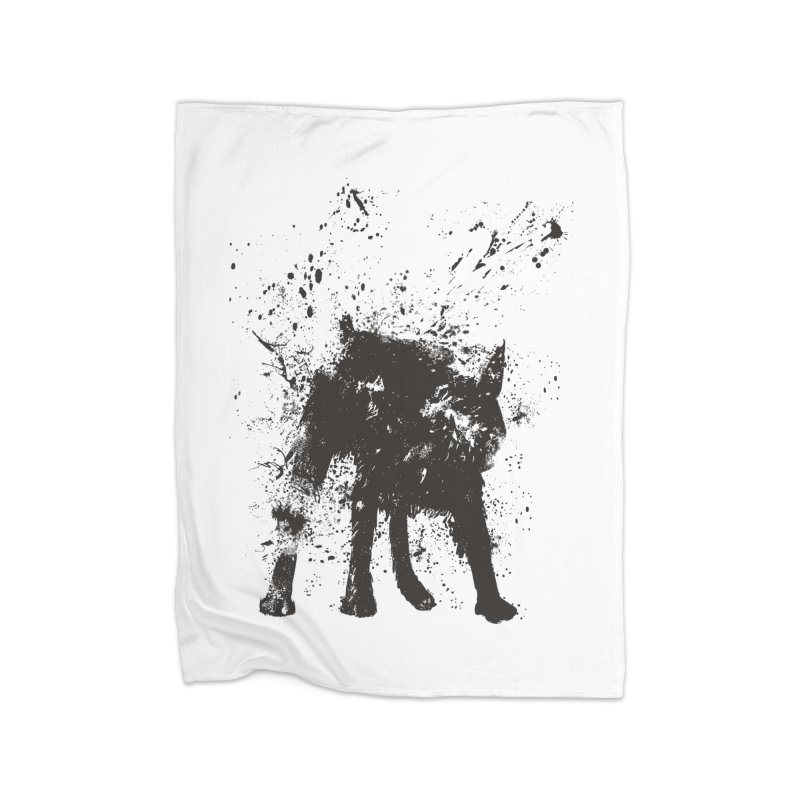 Wet dog Home Blanket by Balazs Solti