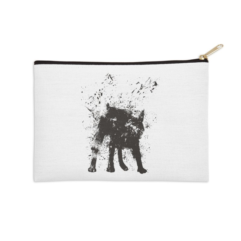 Wet dog Accessories Zip Pouch by Balazs Solti
