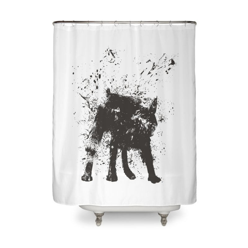 Wet dog Home Shower Curtain by Balazs Solti