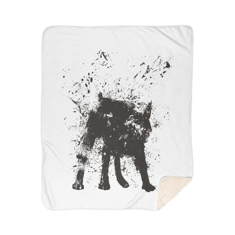Wet dog Home Sherpa Blanket Blanket by Balazs Solti