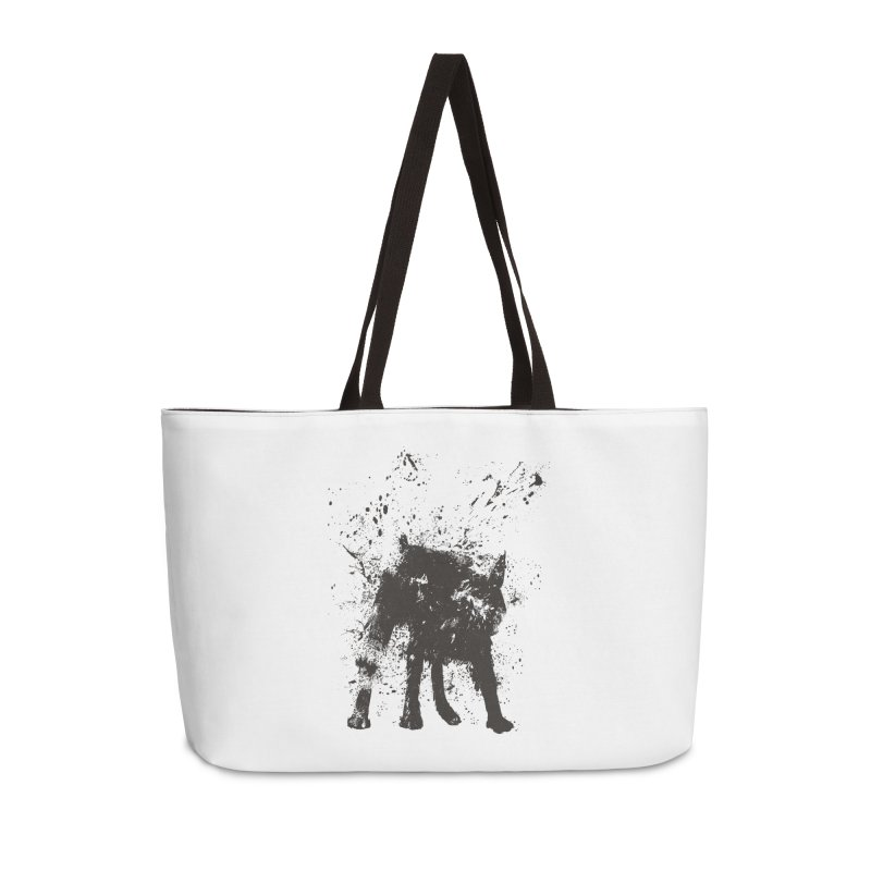 Wet dog Accessories Weekender Bag Bag by Balazs Solti