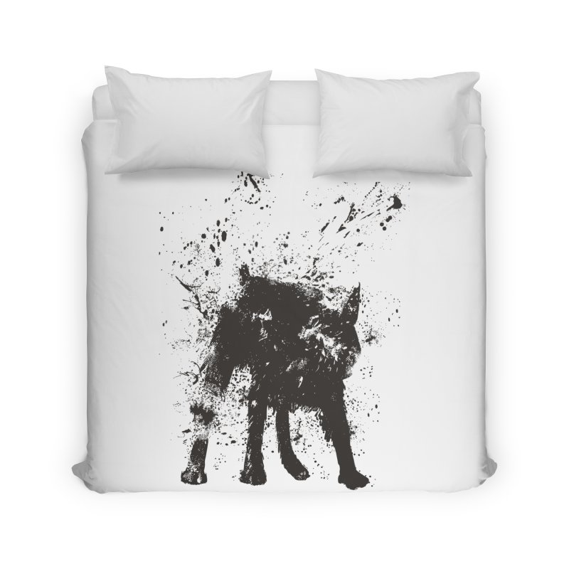 Wet dog Home Duvet by Balazs Solti