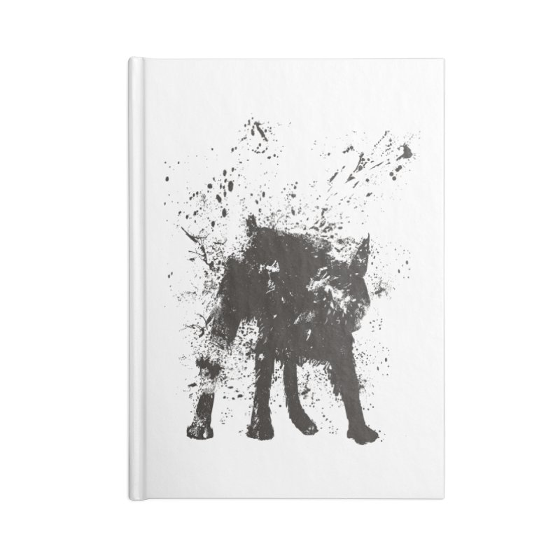 Wet dog Accessories Lined Journal Notebook by Balazs Solti