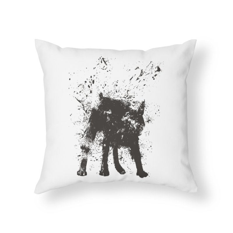 Wet dog Home Throw Pillow by Balazs Solti