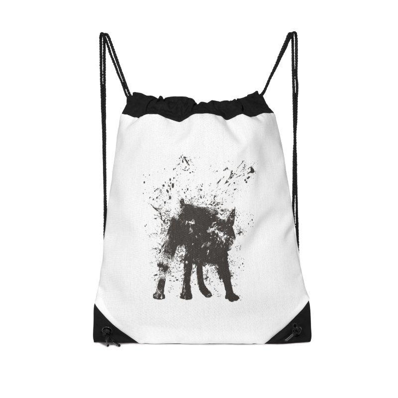 Wet dog Accessories Drawstring Bag Bag by Balazs Solti