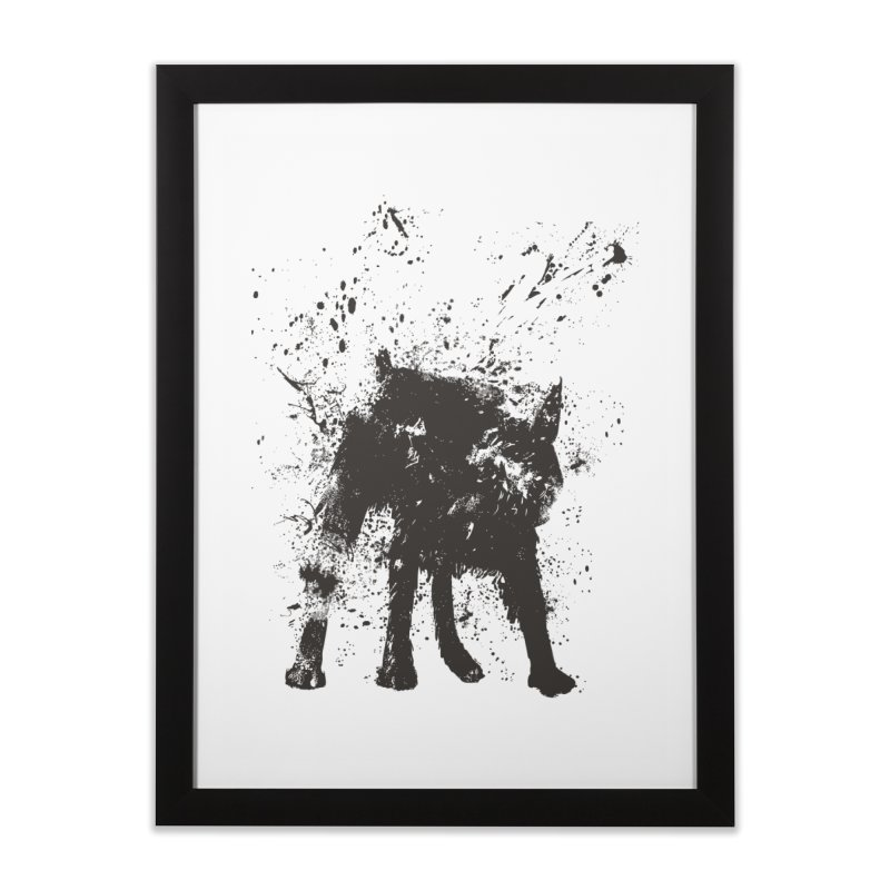 Wet dog Home Framed Fine Art Print by Balazs Solti