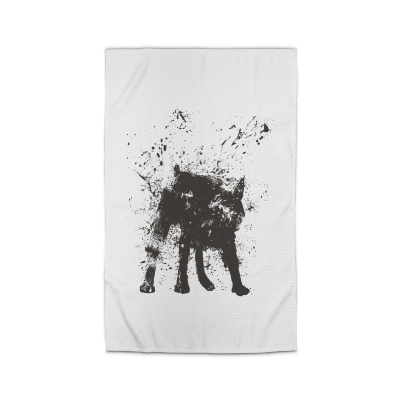 Wet dog Home Rug by Balazs Solti